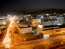 Muscat, Oman cityscape at night