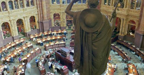 Library of Congress' reading room, seen from above